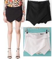 Desigual Woman shorts Skirts Summer Ladies Asymmetrical Geometric Shape Tiered Shorts Casual Trousers Culottes Shorts feminino