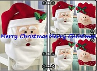 2pcs/set  51cmX70cm Mr & Mrs Santa Claus Christmas Kitchen Chair Covers Necessities on Christmas Day drop shipping