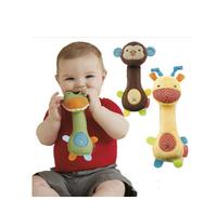 Baby rattles toys animal designs plush baby toys Educational BB rattles giraffe monkey crocodile playgro toysFree shipping