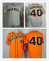 2014 World Series Patch Madison Bumgarner Jersey Cream Orange Grey SF San Francisco Baseball Jerseys Cool Base