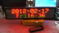 RED/GREEN color Indoor P7.62 16*64 pixels high brightness led strip display screen with remote;size:52.8cm*4cm*16cm