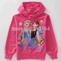 Winter Autumn Roupas Infantil Frozen Anna Elsa Children Outerwear Coats Girls Brand Cartoon Jackets Kids Hoodies Clothing BOS.F8