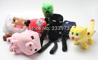 14PCS/Set Minecraft Plush Animals Toys Creeper Enderman Cow Pig Sheep Plush Doll Toys For Children Good Gifts