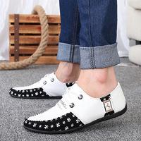 2014 New Fashion Design Brand Autumn Leather Leisure men sport shoes,men's Casual horse shoes Men's Sneakers 39-44 size