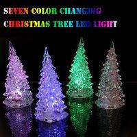 christmas tree led light Clear acrylic Seven Color Changing led lamps Decor Christmas led light decoration for christmas