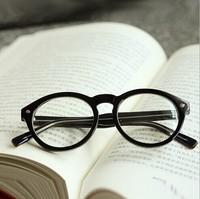 Glasses women Eyeglasses frame for myopia  2014 new plica black box  Eye Glasses Flat glas ses round  vintage  four colors 1851
