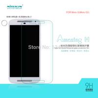 10PCS Original NILLKIN Amazing H Nanometer Anti-Explosion Tempered Glass Screen Protector Film For MOTO G2 +Retail +Free ship