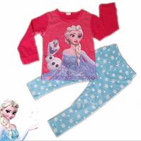 Girl Frozen Queen Clothing Sets Long Sleeve T shirt + Pants Legging Kids Outfits Baby Girls Frozen sleepwear sets