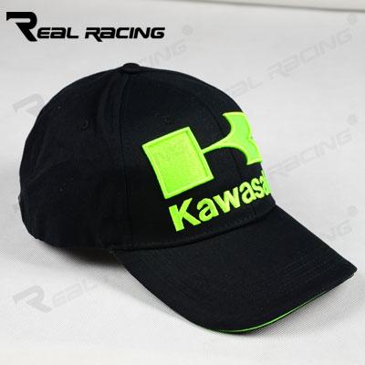 KAWASAKI Racing Caps Black Baseball Cap Sports Motorcycle Car Race Visors Sun Hat Black Color(China (Mainland))