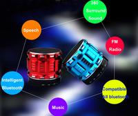 New 2014 Portable Mini Bluetooth Speakers Metal Steel Wireless Smart Hands Free Speaker  s28
