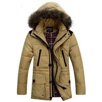 2014 New Men's Down jacket With Fur Hood 90% Duck Down Winter Overcoat Outwear Winter Coat Free Shipping Hot D40