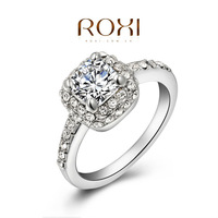2014 new arrival genuine Austrian crystal White Gold plated  Wedding ring, Chrismas gift XXZ