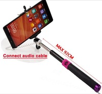 Wired Monopod Audio Cable Take Pole With Remote Control Shutter For Iphone IOS For Samsung Android Phone