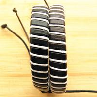 Stylish Leather Braided Bracelets Wristband Hemp Lover's Men's Handmade New Arrival women Xmas gifts 12pcs