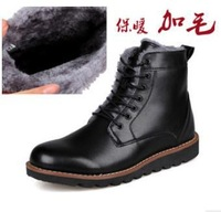 2014  men's antiskid lace up winter thermal snow boots male casual british style high upper business martin short boots JIUDZ56