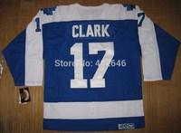 Toronto hockey jerseys, 17# Wendel C LARK blue w/white CCM jerseys, please read size chart before order
