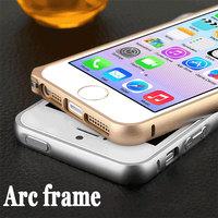 Free Tempered Glass Membrane Aluminum Bumper For iphone 5 5s bumper Luxury Space aluminum No Screw Metal buckle phone bumper