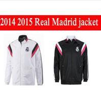 Real Madrid coat jersey 2015 top thai quality N98 Real Madrid RONALDO BALE JAMES KROOS RAMOS jacket cheap sport jersey