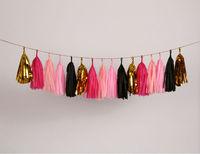 10inch  Tissue Paper Tassel Garland - color party - nursery,birthday, baby shower