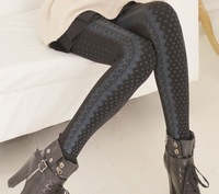 On Sale New 2014 Winter Women Tights Plus Size Thickness Sexy Lace Print Pantyhose Shaper Slim Warm