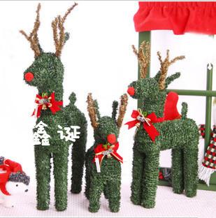 Korean straw Christmas ornaments decorated Christmas tree Christmas deer Christmas deer essential(China (Mainland))