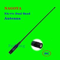NAGOYA NA-771 BNC Connector Dual Band High Gain Antenna For Two Way Radio TK100 TK200 TK308 IC-V8 IC-V80 IC-V82 IC-V85 ICOM