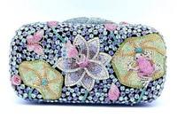 2015 Luxury Crystal Clutch Evening Bag Shinny Handbag Women S08150