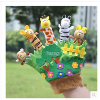 Early Education Baby Toy Comforter Toy Family Fun Tell Story Children Animal Puppet Toy