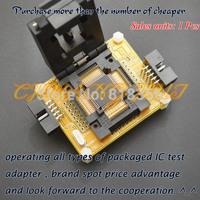 Clamshell TQFP64 LQFP64 test socket AVR ISP/JTAG MCU for atmega64 atmega128