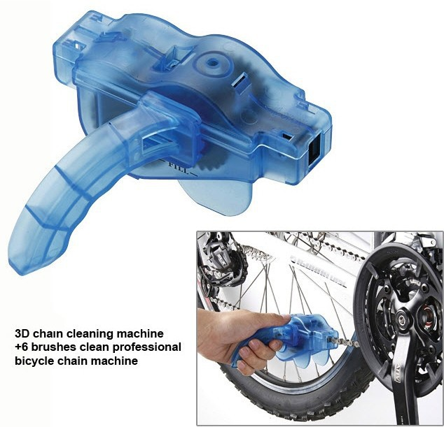 New Portable Bicycle Chain Cleaner Mountain Cycling Bike Clean Machine Brushes Scrubber Wash Tool Kits Outdoor Sports(China (Mainland))