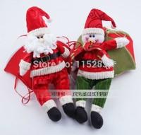 Christmas decoration supplies snowman Santa Claus parachute christmas gift plush doll toy