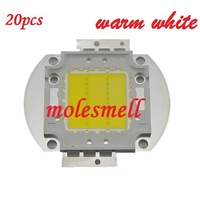 20pcs 20W LED Integrated High power LED Beads warm white 650-700mA 30-34V 2000LM 40mil Taiwan Chips Free shipping