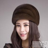 Marten hat female winter Women mink ear protector cap fur hat female winter genuine leather