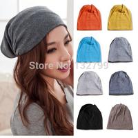 Unisex Cotton Slouchy Beret Hats Women Men Hip Hop Ring Warm Beanie Cap Plain Baggy Skull Hat