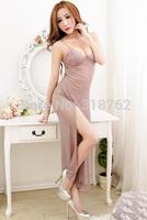 sexy lingerie long lace underwear chemise dress nightwear sleepwear