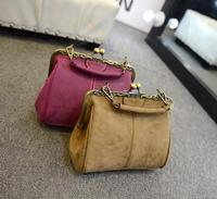 2014 new  retro matte texture jaws handbag shoulder bag women fashion wild packet women messenger bags D- frosted jaws 1406 #