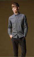 New 2014 Autumn Casual Plaid Men Long Sleeved Shirt 5XL Plus Size Men Camisetas Masculinas