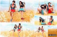 Vinyl Photography Background Wheat Land Scenic For Photo Studio Digital Cloth Senior Backdrop 5X7ft