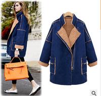 Blends Warm Wool Jacket Double x-Long Long  Wool Coat New Fashion Women's European Autumn Female Coat Brand Winter Poncho qn06