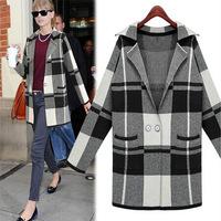 2014 Fashion Woman's Autumn Winter Cute Knitted Garments Long Sweater Jacket Coat AI102 Cardigans Top Outwear