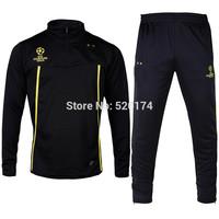 14 Champions Dortmund soccer training suit jacket winter coat winter sports jersey sportswear leg pants