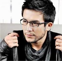 Lovey Men/Male Titanium Alloy Business Full Frame Glasses Myopia Opitcal TR90 Frame Ultralight Black-rimmed Eyeglasses