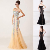 Elegant Mermaid Sweetheart Off the Shoulder Long Evening Dress Party Formal Porm Gowns Dress Custom Made Any Size&Color