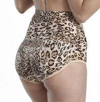 Shapewear Women's Seamless High Waist Boyshort Slimmer Tummy Control Black Leopard Free Shipping