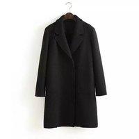 European 2014 New Fashion Women Autumn Winter Coat Woolen Tweed Candy Mint Purpel Pink Jacket Casual Outerwear Free shipping