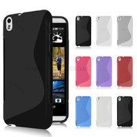 500pcs/Lot TPU S  Line GEL Case Cover for  HTC Desire 816
