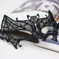 Bat Shape Lace Party Mask  Half-face Women Masquerade Mask Christmas Hallowmas Holiday Fashion Cool Decoration