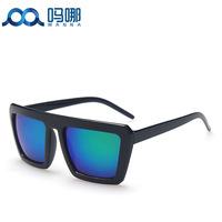 2014 Men and women unisex retro sunglasses Original case Newest cat eye Classic brand len box glasses sunglasses women vintage C