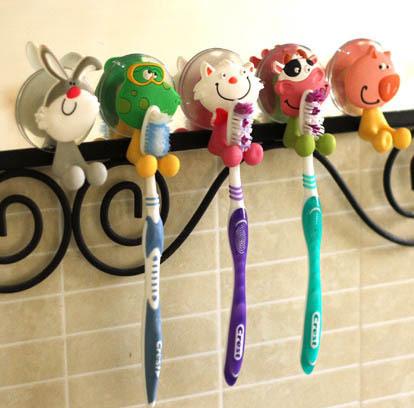 Home Furniture ornament cute animal toothbrush holder Mini suporte para escova de dente(China (Mainland))