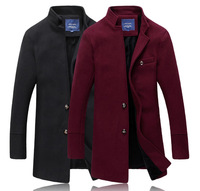 Winter cloth dust coat Wool blends mens coats Casual coat man Luxury Single-breasted Cloth +Wool Drop shipping New 2014